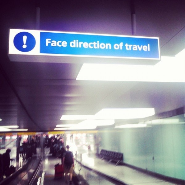 Face Direction of Travel